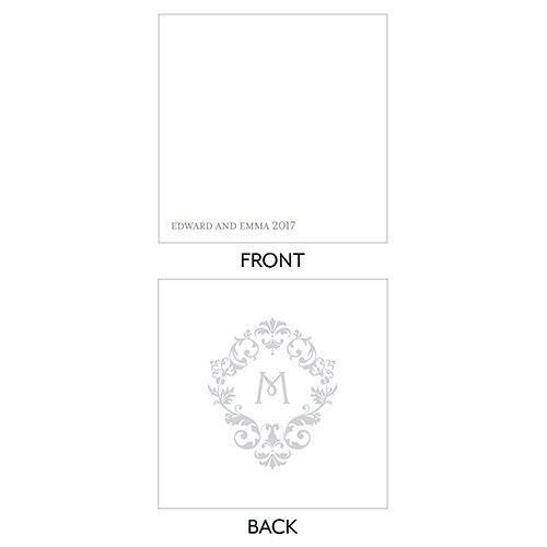 Monogram Simplicity Square Favor Tag   Classic Filigree