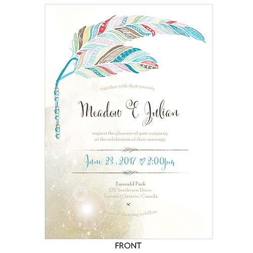 Feather Whimsy Invitation