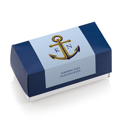 Anchor Monogram Rectangular Label