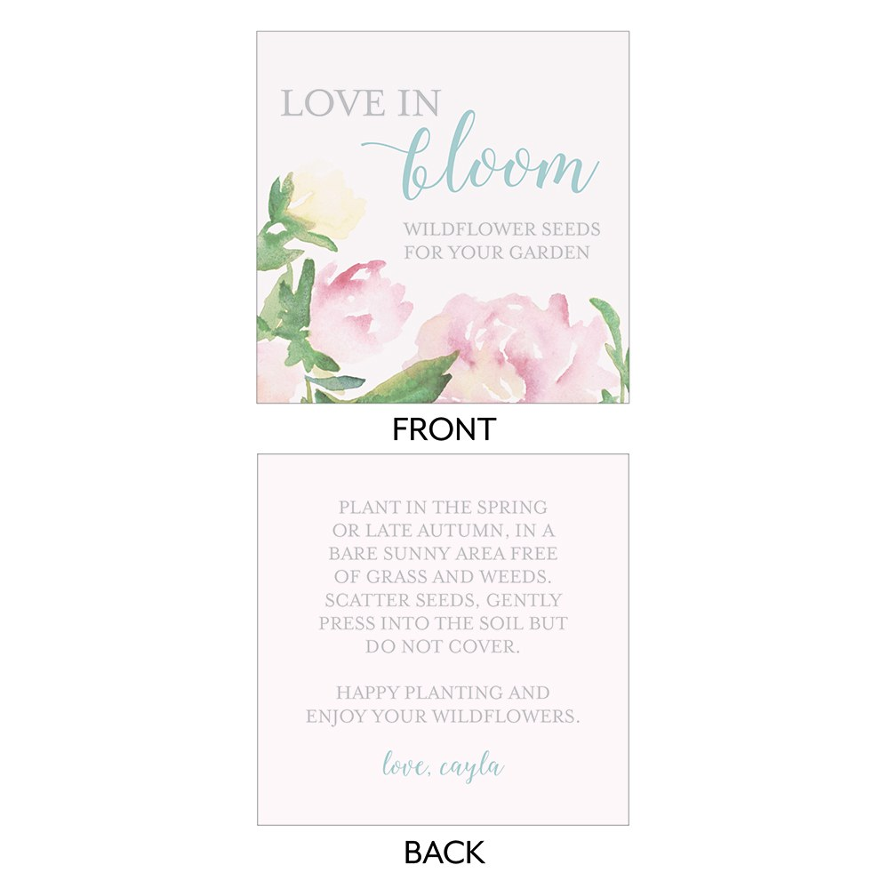 Garden Party Open Format Square Favor Tag