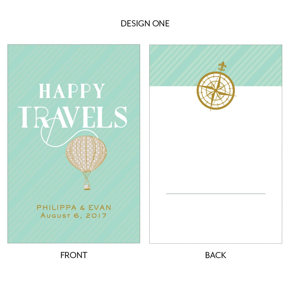 Happy Travels Assorted Large Rectangular Card