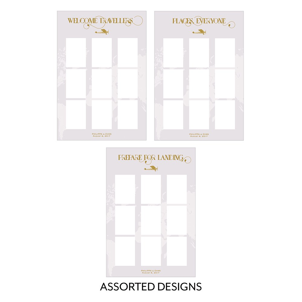 Personalized Seating Chart Kit With Vintage Travel Design