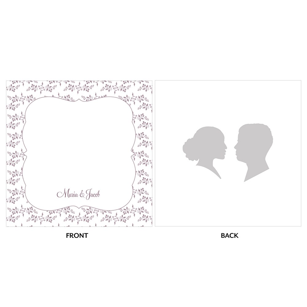 Silhouette Engraved Personalized Acrylic Block Cake Topper