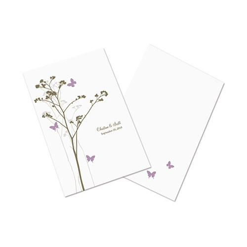 Romantic Butterfly Wedding  Bulletin