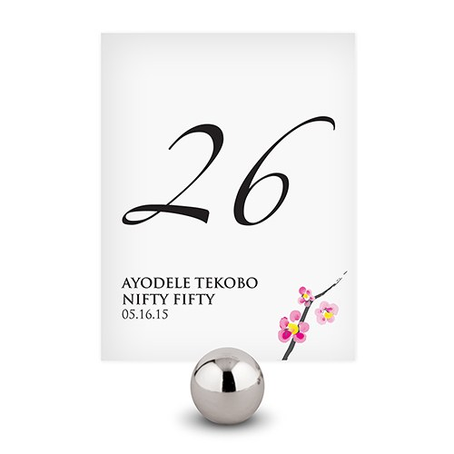 Cherry Blossom Wedding Reception Table Number