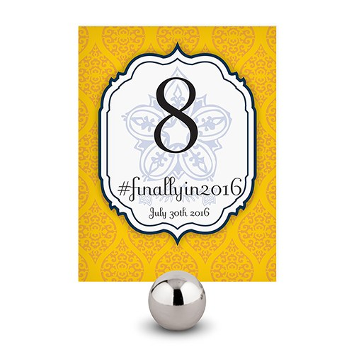 Moroccan Wedding Reception Table Number