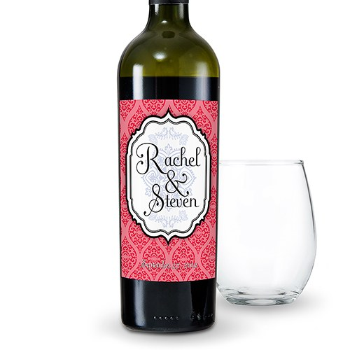Moroccan Wedding Wine Bottle Label