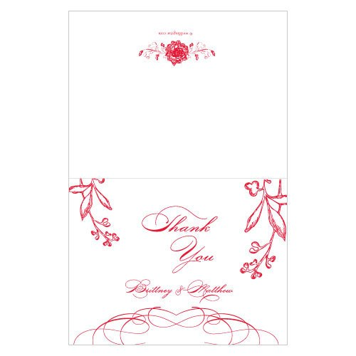 French Whimsy Wedding Thank You Card
