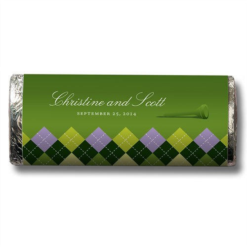 Golf Personalized Chocolate Bar Favor
