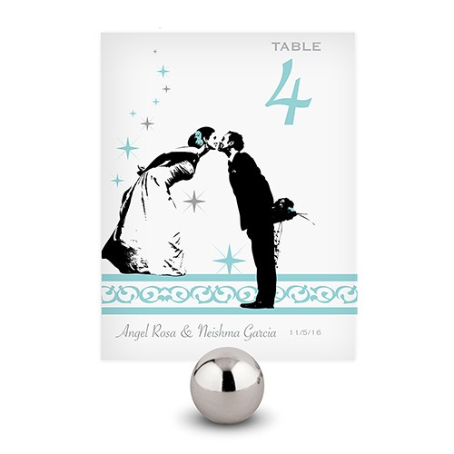 Vintage Hollywood Wedding Reception Table Number Card