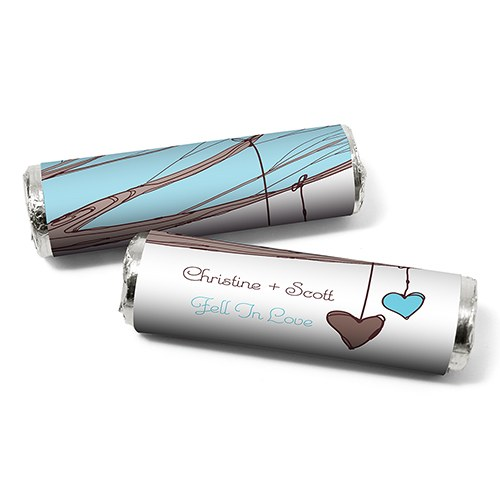 Heart Strings Personalized WeddingCandy Roll Wrap