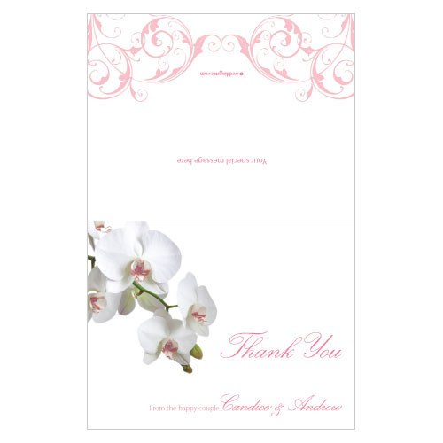 Classic Orchid Wedding Thank You Card