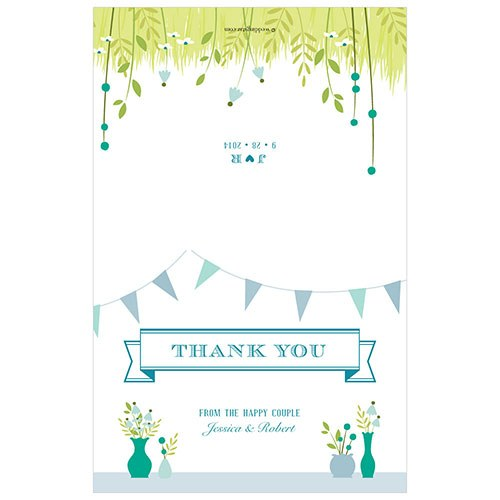 Homespun Charm Wedding Thank You Card