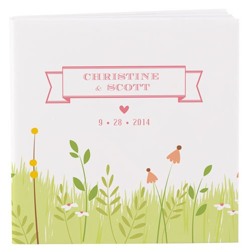 Homespun Charm Personalized Book Style Wedding Favor Notepad