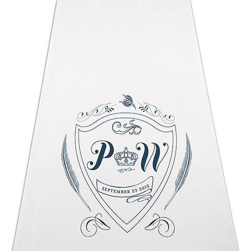 Regal Monogram Personalized Wedding Aisle Runner
