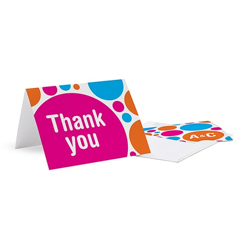 Retro Pop Wedding Thank You Card