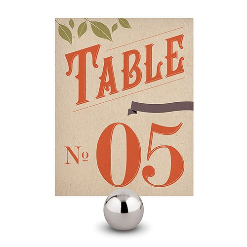 Vineyard Wedding Table Number
