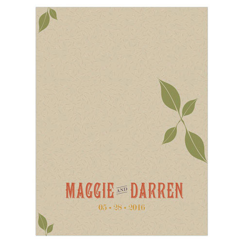 Vineyard Wedding Place Card With Fold