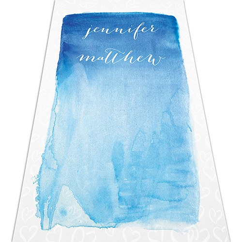 Aqueous Personalized Wedding Aisle Runner