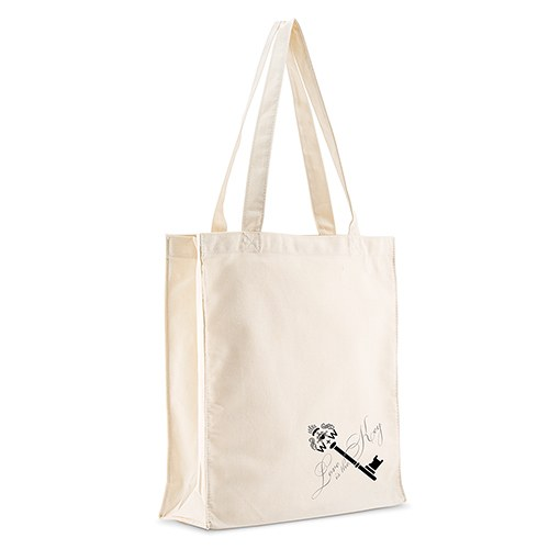 Antique Key Wedding Signature Personalized 100 per cent Cotton Twill Tote Bag