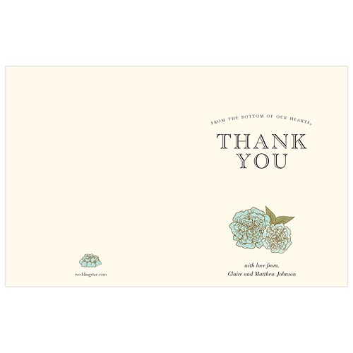 Burlap Chic Thank You Card