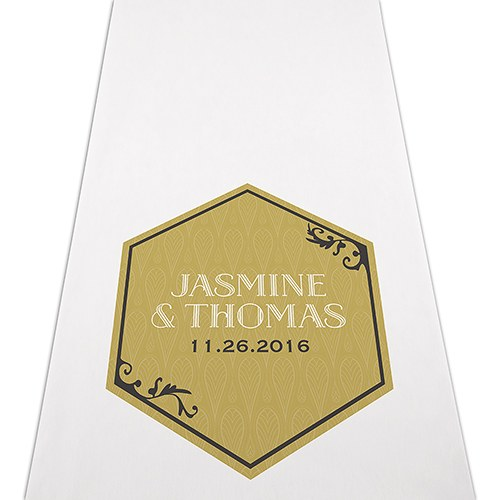 Black and Gold Opulence Personalized Aisle Runner