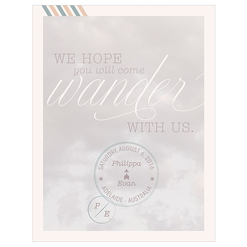 Wanderlust Save The Date Card
