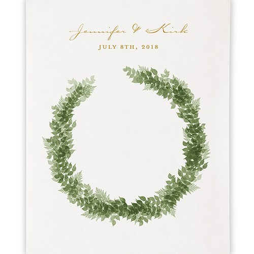 Love Wreath Personalized Premium Canvas Backdrop