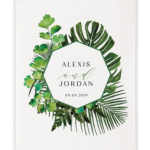 Greenery Personalized Premium Canvas Backdrop