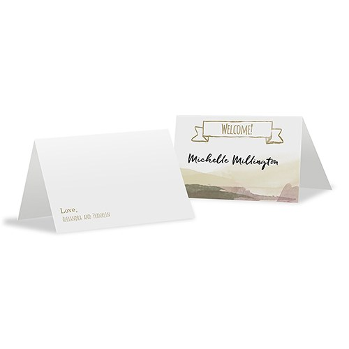 Natural Charm Place Card With Fold