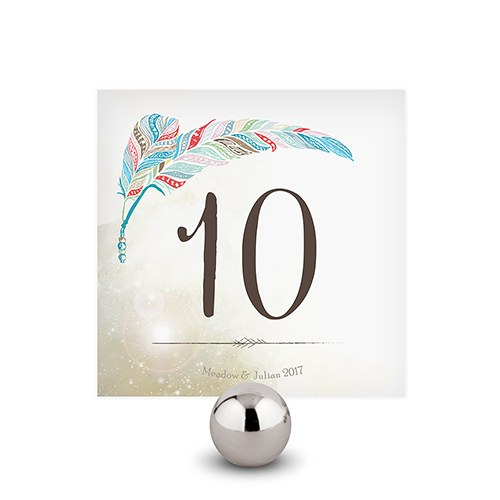 Feather Whimsy Square Table Numbers