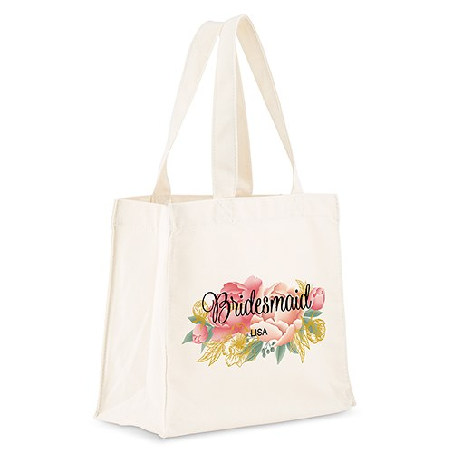 Personalized White Canvas Tote Bags - The Knot Shop 628c4e764e