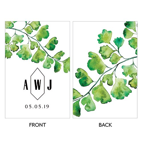 Maidenhair Fern Greenery Large Rectangular Card - Double Side Print