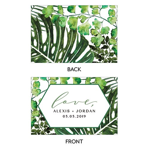 Greenery Love Large Rectangular Card - Double Side Print