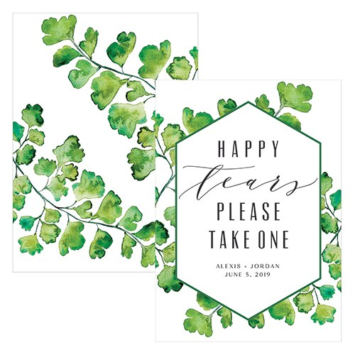 Greenery Large Menu / Table Card / Sign
