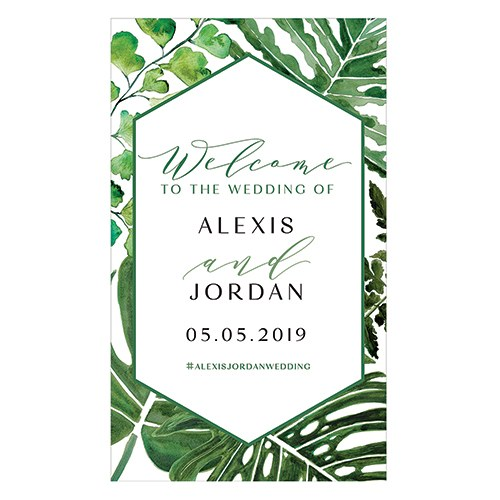 Greenery Personalized Welcome Sign For Rustic Wood Frame