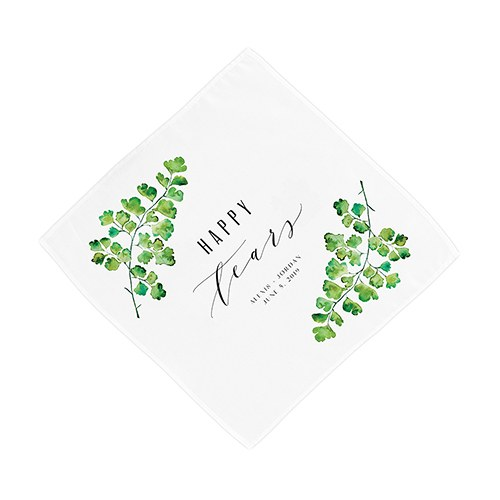 Greenery Happy Tears Personalized Handkerchief