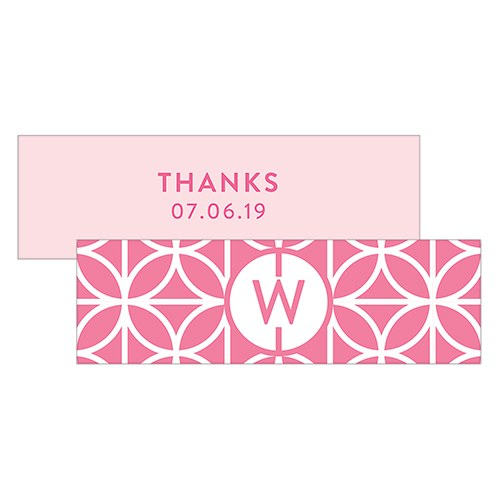 Summer Vibes Monogram Rectangular Favor Tag