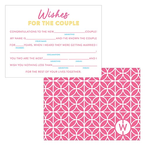 Summer Vibes Wedding Libs Wishes Cards