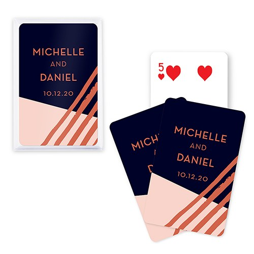Unique Custom Playing Card Favors - Retro Luxe