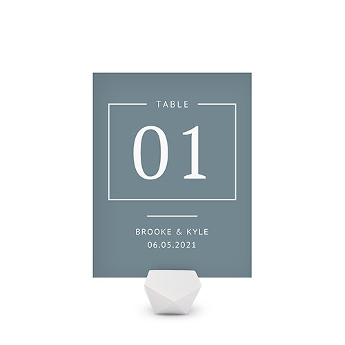 Personalized Wedding Reception Table Number Card - Rustic Love
