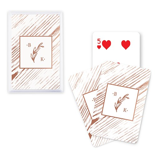 Unique Custom Playing Card Favors - Rustic Monogram