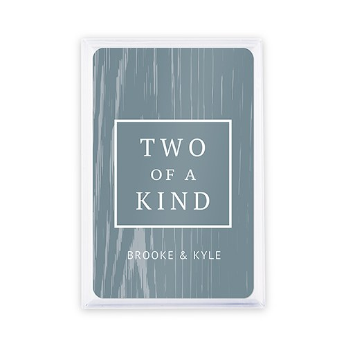 Unique Custom Playing Card Favors - Two of a Kind