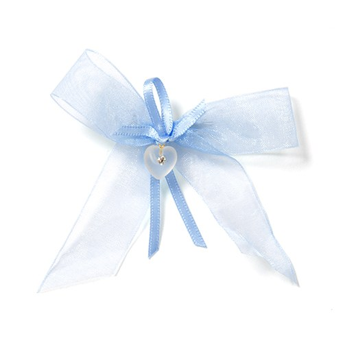 Something Blue Chiffon Bridal Accessory Handkerchief Bow