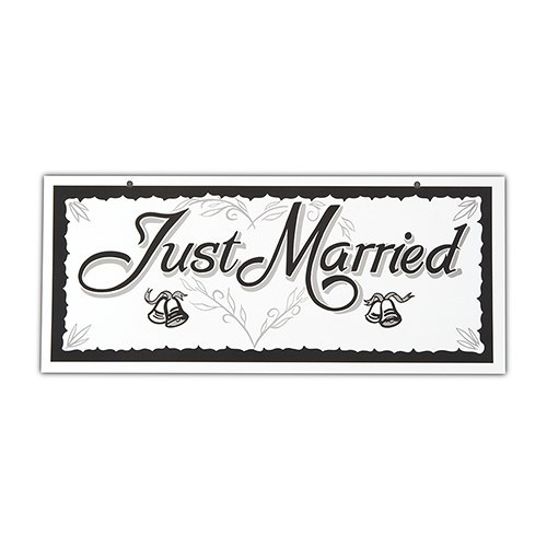 Just Married Wedding License Plates