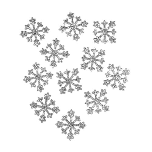 Sparkle Snowflakes Reception Decoration Accessory in Silver