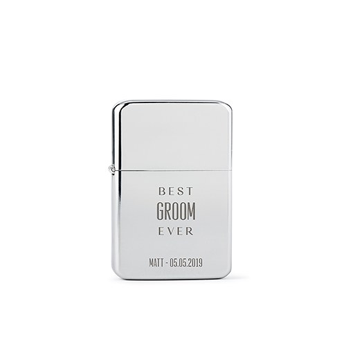 Classic Lighter - Best Groom Ever Etching