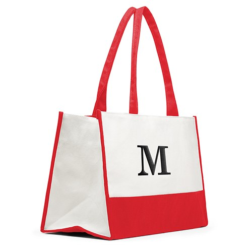 Colorblock Tote Coral / Soft Red