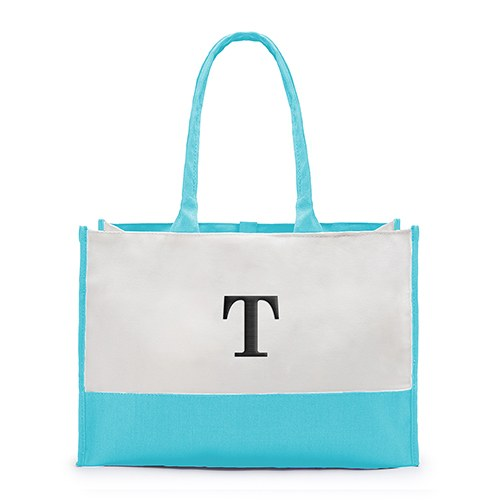 Colorblock Tote Garden Collection Robin's Egg Blue