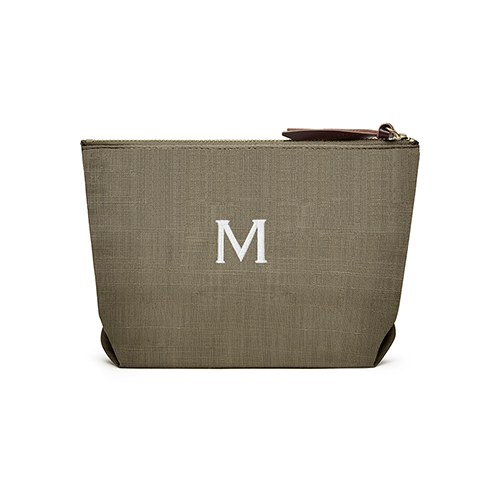 Napa Linen Cosmetic Bag Dark Olive